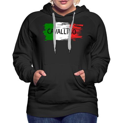 Cavallino auf Flagge - Frauen Premium Hoodie