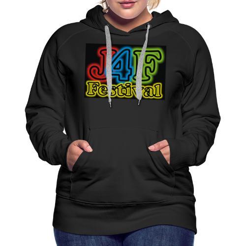 Just4Fun Festival Logo Schwarz - Frauen Premium Hoodie
