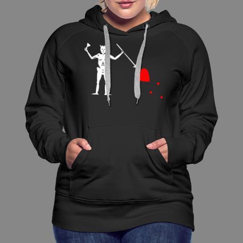 Edward Teach Flag - Sweat-shirt à capuche Premium pour femmes