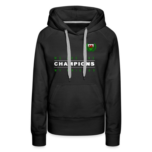 Wales Champions men red+green - Women's Premium Hoodie