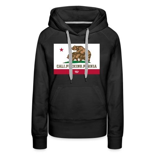 California, Californiano, Fuck, Orso - Felpa con cappuccio premium da donna