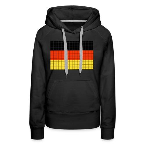 german flag.png - Felpa con cappuccio premium da donna