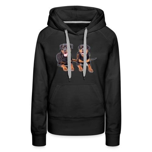 Rottweiler - Bluza damska Premium z kapturem