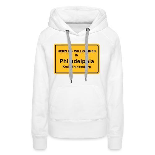 Ortsschild Philadelphia - Frauen Premium Hoodie