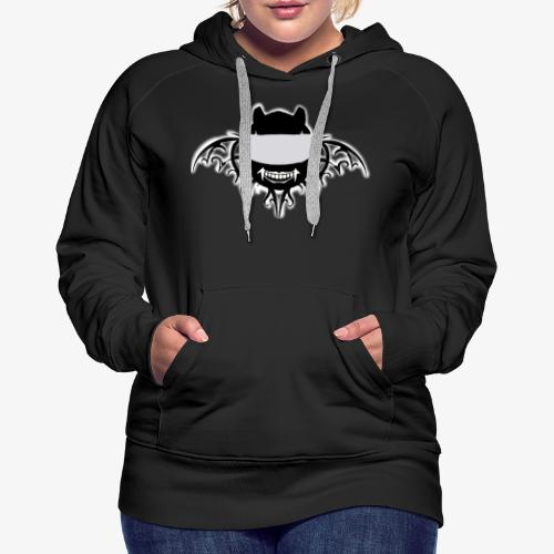 Bat Rider logo spread - Sweat-shirt à capuche Premium pour femmes