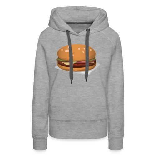hamburger-576419 - Felpa con cappuccio premium da donna