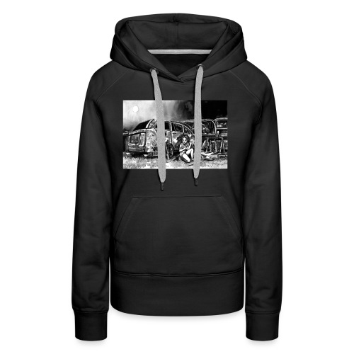 Scarlett Bush hiding from Zombies in Virginia - Women's Premium Hoodie