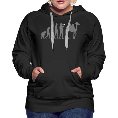 evolution_chameau2 - Sweat-shirt à capuche Premium pour femmes