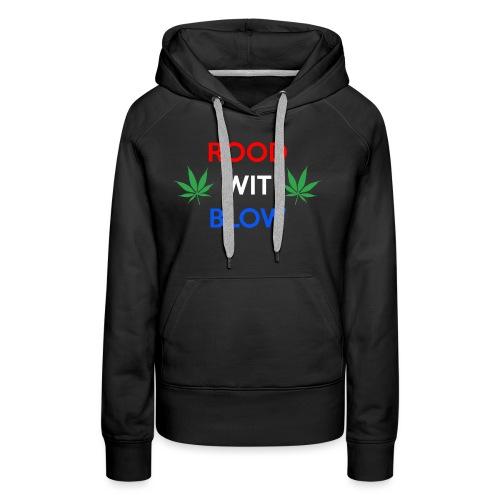Rood Wit Blow - Vrouwen Premium hoodie