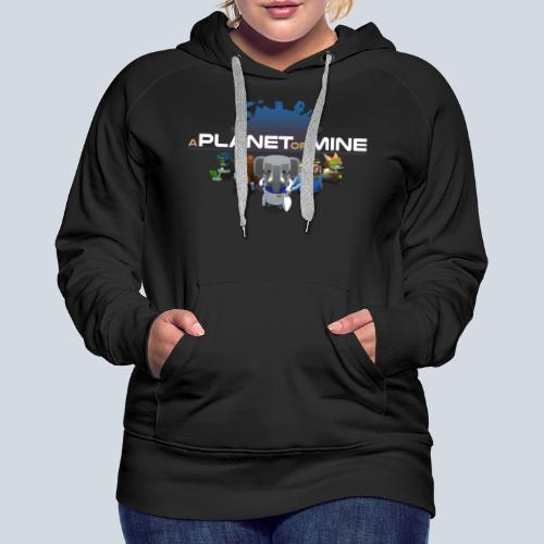 logo planetofmine dark HD - Sweat-shirt à capuche Premium pour femmes