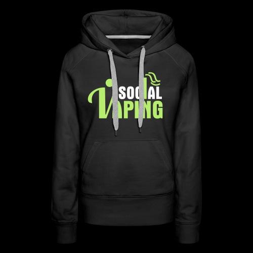 SOCIAL VAPING LOGO - Women's Premium Hoodie