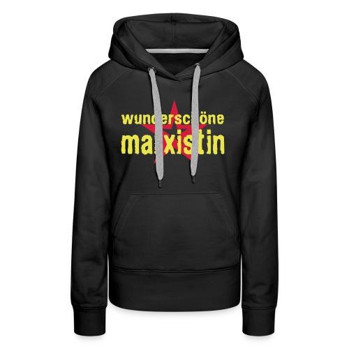 wunderschoene marxistin - Frauen Premium Hoodie