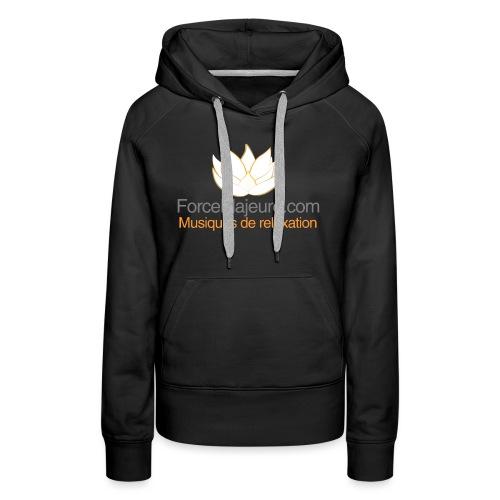 gros logo pour t shirt - Sweat-shirt à capuche Premium pour femmes