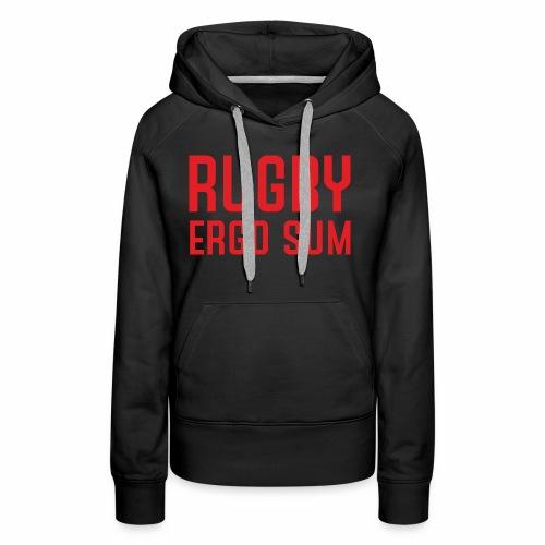 Marplo RugbyergosUM RED - Felpa con cappuccio premium da donna
