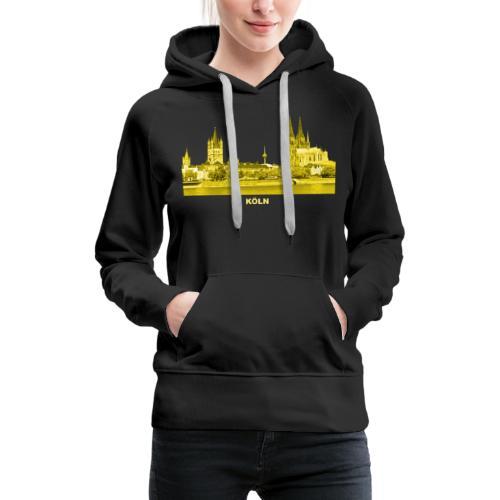 Köln Dom Rhein Nordrhein-Westfalen Deutschland - Frauen Premium Hoodie