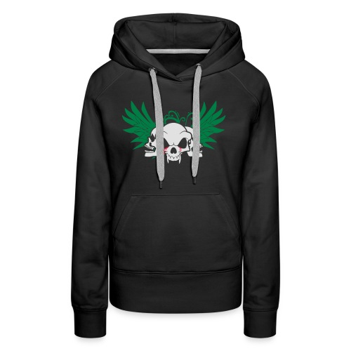 skull and wings - Women's Premium Hoodie