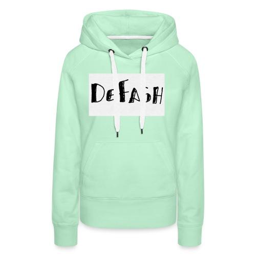 Defash1-png - Sweat-shirt à capuche Premium pour femmes