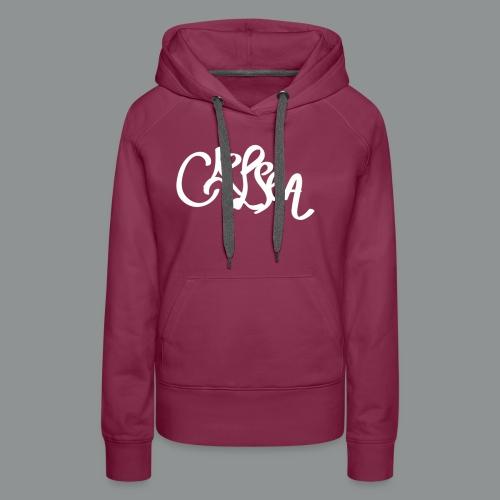 Vrouwen shirt (rug) - Vrouwen Premium hoodie