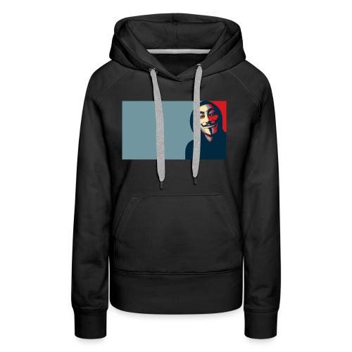 Anonymous - Sudadera con capucha premium para mujer