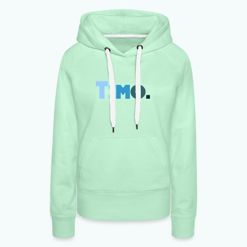 Timo in blauwe tinten - Vrouwen Premium hoodie