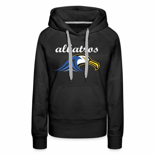 Logo_Albatros_w - Sweat-shirt à capuche Premium pour femmes