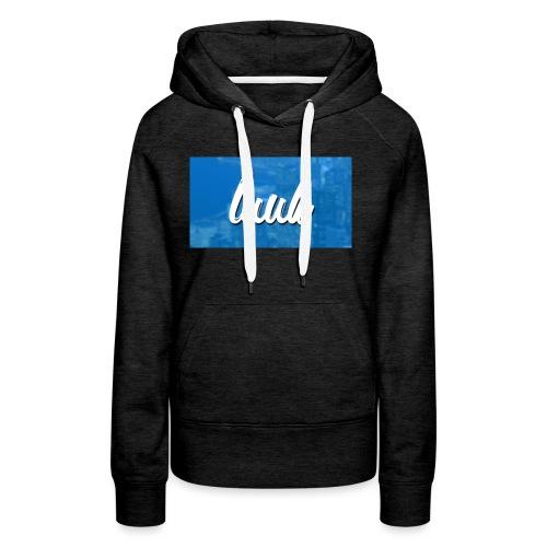 Box Logo Blauw - Vrouwen Premium hoodie