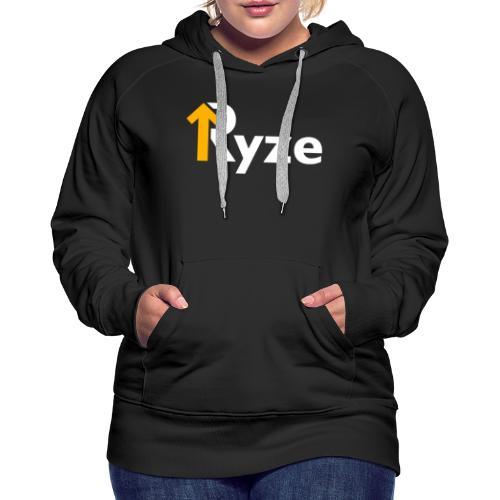 Ryze Logo Copy - Felpa con cappuccio premium da donna