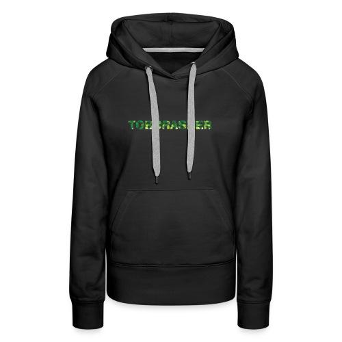 Tshirt Green triangles big - Frauen Premium Hoodie