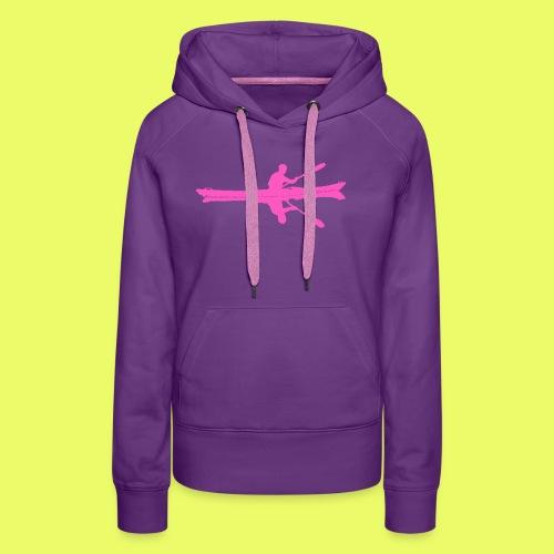 Kayak_Silhouette_pink - Frauen Premium Hoodie