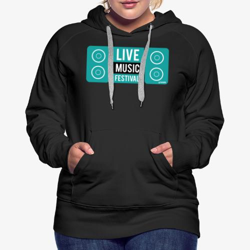 Amo la música - Sudadera con capucha premium para mujer