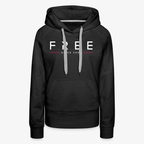 free typo white - Frauen Premium Hoodie