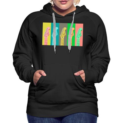 Colorful Guitar Gathering by #OneCreativeArts - Frauen Premium Hoodie