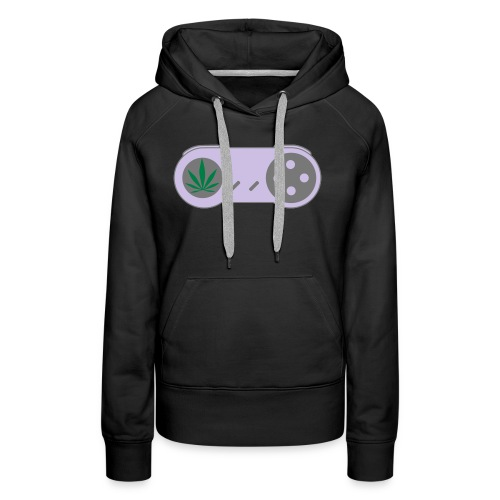 PLAY HiGH Retro Weed Gamer Controller - Women's Premium Hoodie