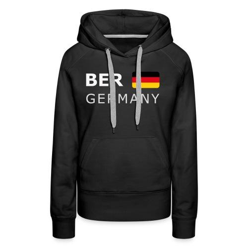 BER GERMANY GF white-lettered 400 dpi - Women's Premium Hoodie