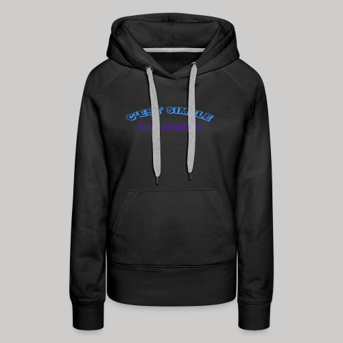 c est simple - Sweat-shirt à capuche Premium pour femmes