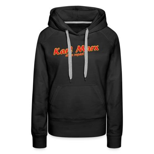 Karl Marx et ça repart ! - Sweat-shirt à capuche Premium pour femmes