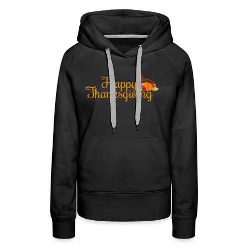 Happy Thanksgiving Words - Women's Premium Hoodie