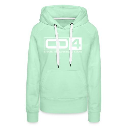 cd4 logo dikker kader bold font - Vrouwen Premium hoodie