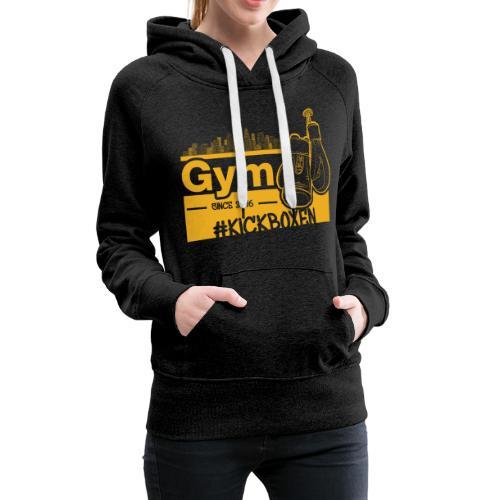Gym Druckfarbe Orange - Frauen Premium Hoodie