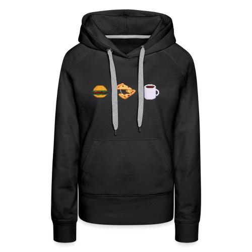 Pixel geeky food - Sweat-shirt à capuche Premium pour femmes