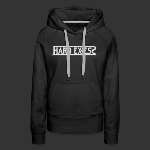 HARD EXCESS Logo weiß - Frauen Premium Hoodie