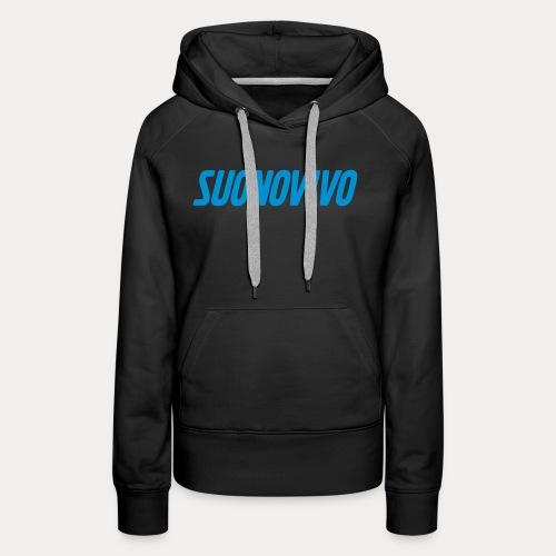 suonovivo_logo solo logo - Felpa con cappuccio premium da donna