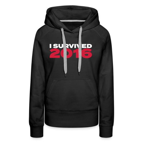 I survived 2016 weiss - Frauen Premium Hoodie