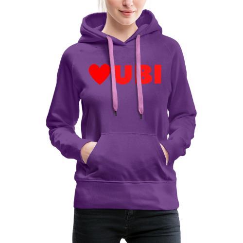 love ubi red trans - Vrouwen Premium hoodie