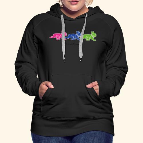 frenchies multicolor - Sweat-shirt à capuche Premium pour femmes