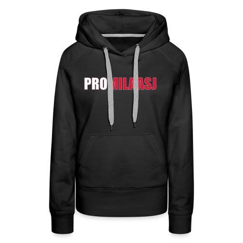 Promilaasj_tekst_logo - Vrouwen Premium hoodie