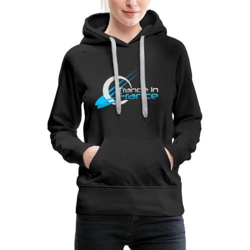 Trance In France Black - Large Logo - Sweat-shirt à capuche Premium pour femmes