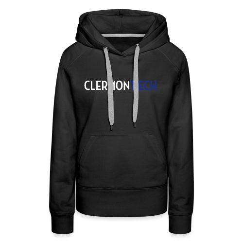 Clermont ech two colors - Sweat-shirt à capuche Premium pour femmes