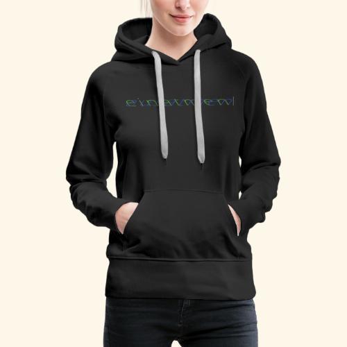 atmen Grün-Blau (m) - Frauen Premium Hoodie