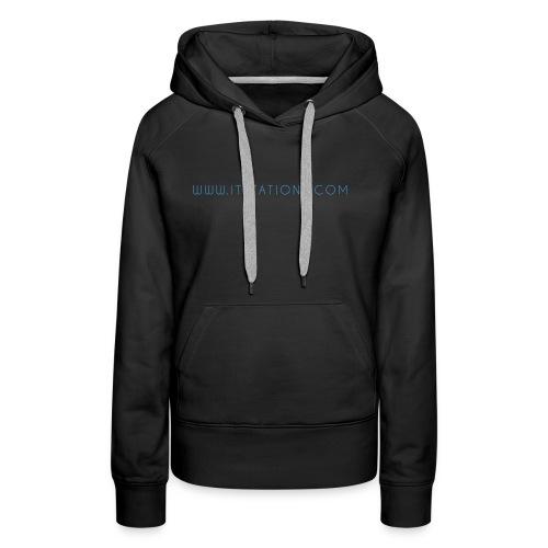 WWW ITSTATIONS COM TEXTE MUGS 2 png - Sweat-shirt à capuche Premium pour femmes